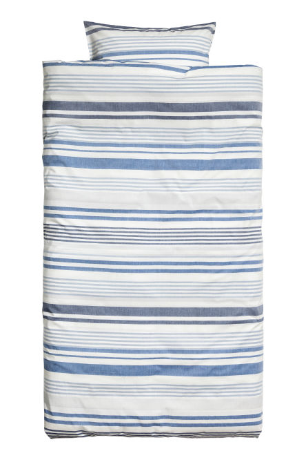 Striped duvet cover set