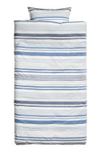 Striped duvet cover set - Natural white/Blue - Home All | H&M CN 2