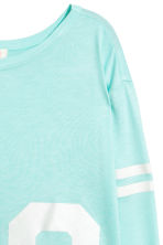 Printed top - Light turquoise -  | H&M 3