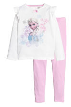 Jersey pyjamas - White/Frozen - Kids | H&M 1
