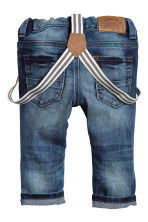 Jeans con bretelle - Blu denim - BAMBINO | H&M IT 2