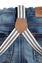 Jeans with braces - Denim blue - Kids | H&M 3