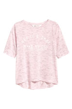 Printed T-shirt - Light purple marl - Kids | H&M CN 2