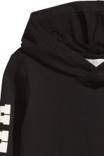 Printed hooded top - Black - Kids | H&M 3