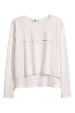 Glittery jersey top - White marl - Kids | H&M 2
