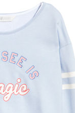 Printed top - Light blue -  | H&M 3