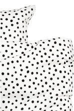Set copripiumino a pois - Bianco/nero - HOME | H&M IT 4