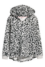 Hooded top - Grey/Leopard print - Kids | H&M CN 2