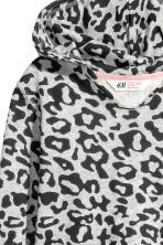 Hooded top - Grey/Leopard print - Kids | H&M CN 3