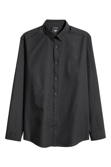 Camicia easy-iron Slim fit - Nero - UOMO | H&M IT 1