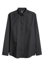 Easy-iron shirt Slim fit - Black - Men | H&M 1