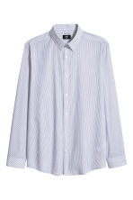 Easy-iron shirt Slim fit - White/Dark blue/Striped - Men | H&M 2