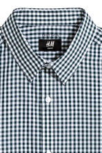 Camicia easy-iron Slim fit - Verde scuro/quadri - UOMO | H&M IT 2