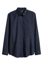 Easy-iron shirt Slim fit - Dark blue/Chambray - Men | H&M 1