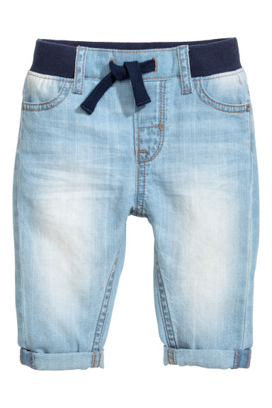 Pull-on jeans - Light denim blue -  | H&M 1
