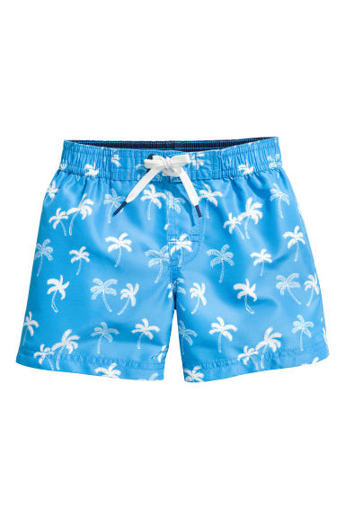 Patterned swim shorts - Blue/Palms - Kids | H&M CN