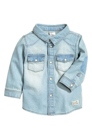 Denim shirt - Light denim blue - Kids | H&M CN 1
