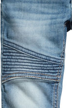 Skinny Fit Biker Jeans - Denim blue -  | H&M 5