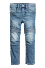 Skinny Fit Biker Jeans - Denim blue -  | H&M 2