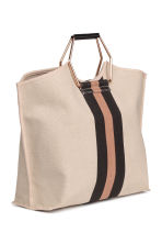Cotton canvas shopper - Light beige - Ladies | H&M CN 2