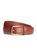 Leather belt - Brown - Ladies | H&M CN 1