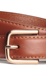 Leather belt - Brown - Ladies | H&M CN 3