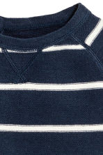 Fine-knit jumper - Dark blue/Striped - Kids | H&M 2