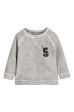 Fine-knit jumper - Grey marl - Kids | H&M 1