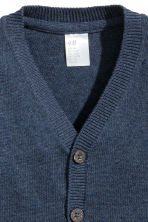 Fine-knit cardigan - Dark blue marl - Kids | H&M CN 2