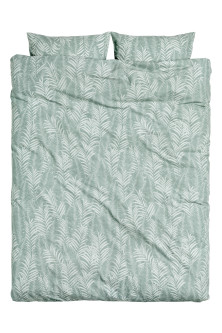 Leaf-patterned duvet set