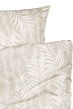 Leaf-patterned duvet set  - Light beige - Home All | H&M CN 2