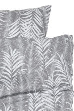 Leaf-patterned duvet set  - Grey - Home All | H&M CN 2