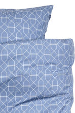 Patterned duvet cover set - Pigeon blue - Home All | H&M CN 2