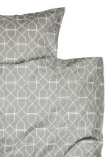 Patterned duvet cover set - Grey - Home All | H&M CN 3