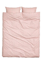Patterned duvet set double - Dusky pink - Home All | H&M CN 2