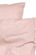Patterned duvet set double - Dusky pink - Home All | H&M CN 3