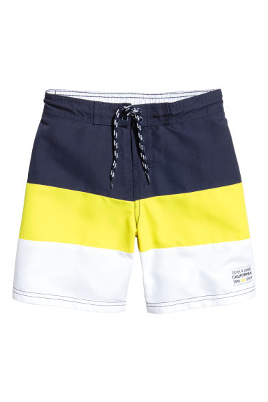 撞色泳褲 - Dark blue/Yellow -  | H&M 1