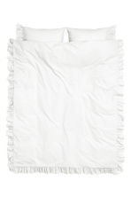 Cotton poplin duvet cover set - White - Home All | H&M CN 2
