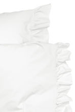 Cotton poplin duvet cover set - White - Home All | H&M CN 3