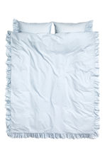 Cotton poplin duvet cover set - Light blue - Home All | H&M CN 1
