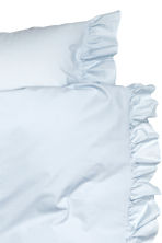 Cotton poplin duvet cover set - Light blue - Home All | H&M CN 2