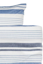 Striped duvet cover set - Natural white/Blue - Home All | H&M CN 3