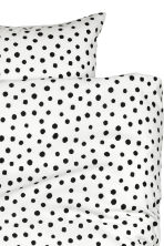 Spotted duvet cover set - White/Black - Home All | H&M CN 4