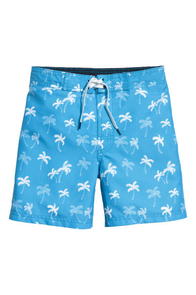 Patterned swim shorts - Blue/Palms - Kids | H&M