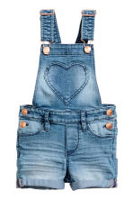 Denim dungaree shorts - Denim blue - Kids | H&M 2