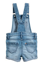 Denim dungaree shorts - Denim blue -  | H&M 3