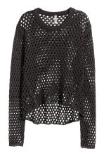Mesh-knit jumper - Black - Ladies | H&M CN 2