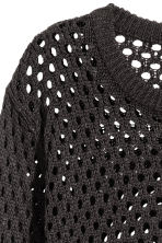 Mesh-knit jumper - Black - Ladies | H&M CN 3