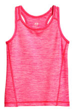 Sports vest top - Neon pink marl -  | H&M 2