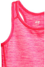 Sports vest top - Neon pink marl - Kids | H&M CN 3